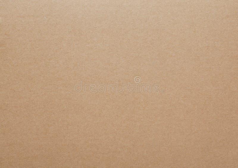 Texture ou fond d'abrégé sur feuille de carton de Brown images stock