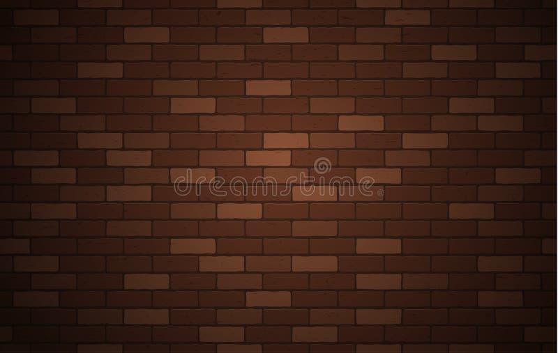 Texture ou fond de mur de briques de Brown avec l'espace de copie pour l'affichage de la conception satisfaite pour le produit de illustration libre de droits