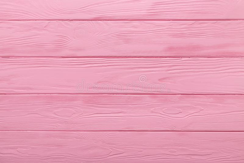 Texture ou fond en bois de table de couleur de rose en pastel photographie stock
