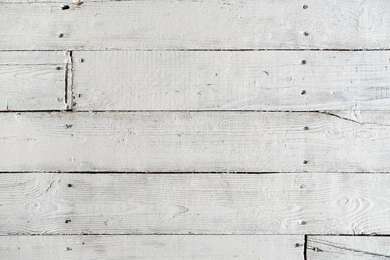 Texture of painted floor boards with white paint. Background image royalty free stock photo