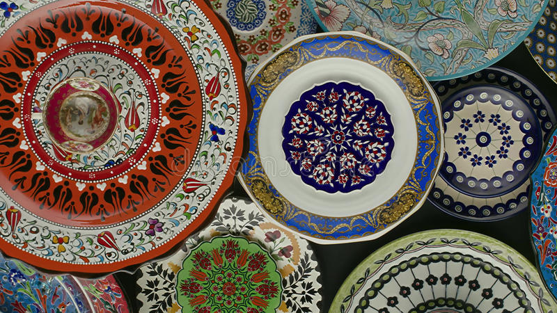 Texture, painted plates. stock images