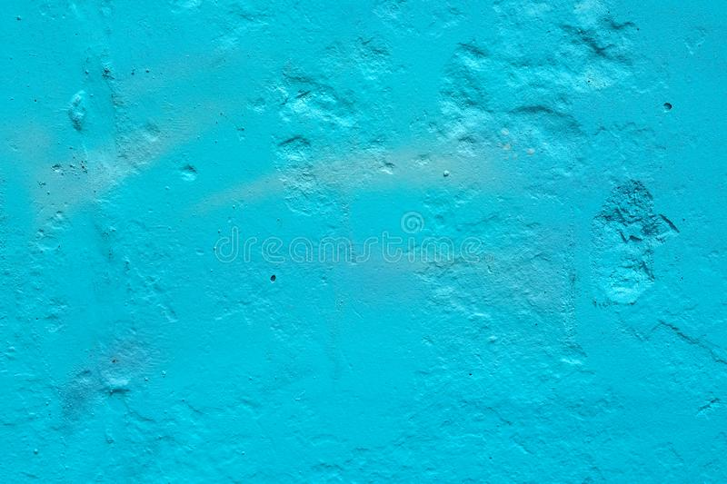Texture of a painted wall. cement plate blue color background. royalty free stock images