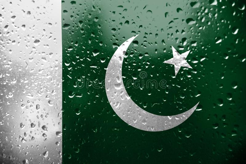 Texture of Pakistan flag. royalty free illustration