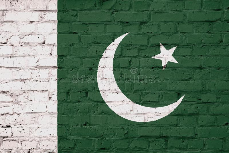 Texture of Pakistan flag stock photos