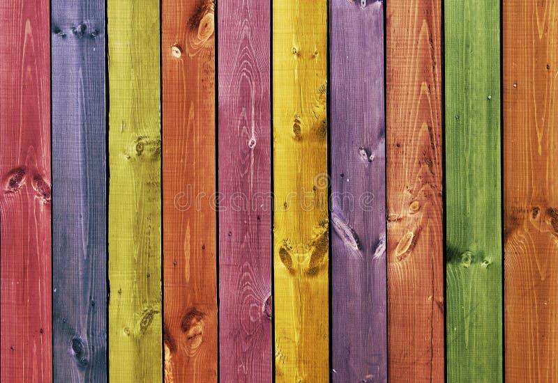 Texture - panneaux en bois colorés photographie stock