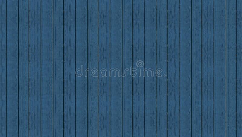 Texture panoramique de planches sans couture en bois bleues photographie stock