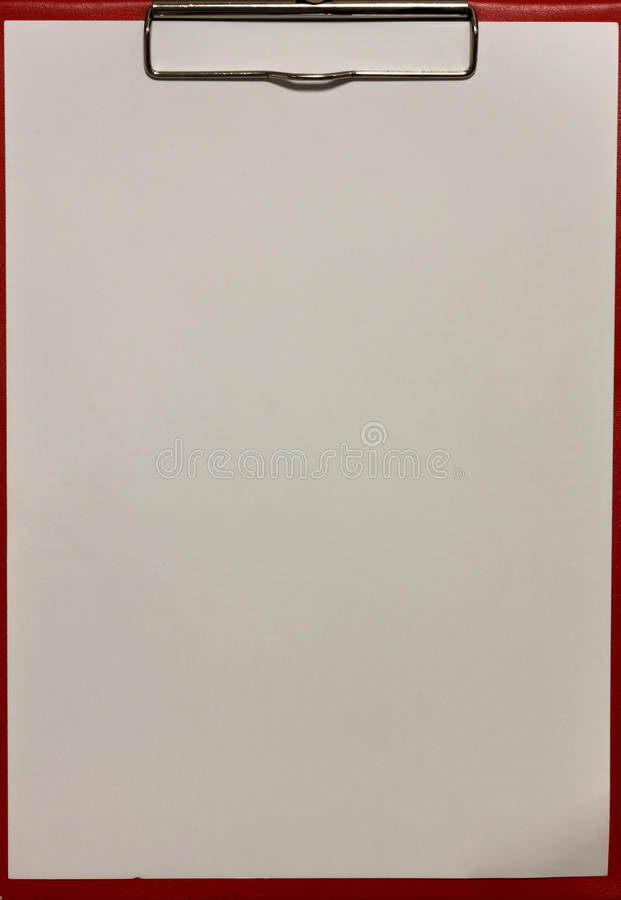 Texture paper and red clipboard. stock image