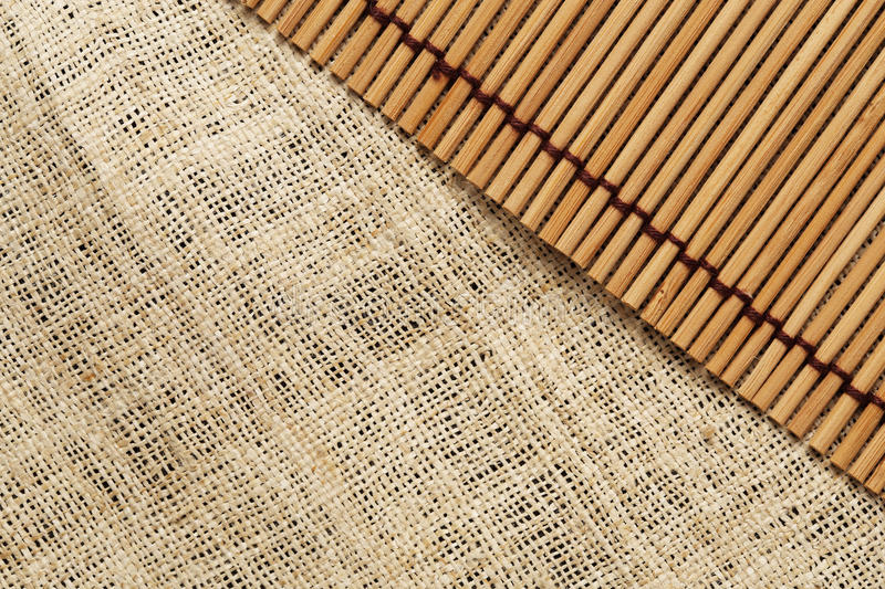 The texture and pattern of canvas and japanese mat background. And pattern stock photography