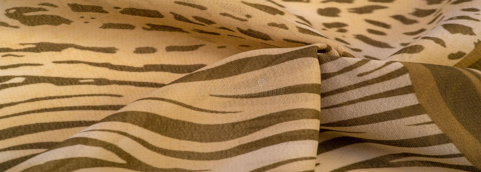 Texture, pattern, collection, silk fabric, African theme, animal skins, brown tones, Watercolor Background Photos Printed Props stock photo