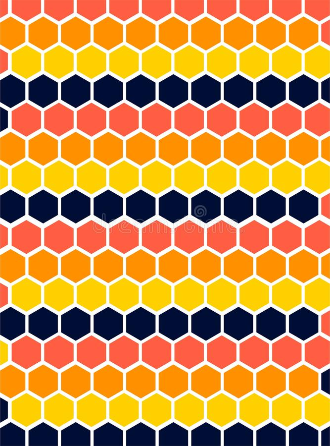 Texture Pattern Hexagon Repetition Solid Color royalty free illustration