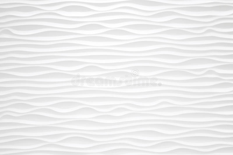 Texture pattern of modern white seamless wave wall for backgroun royalty free illustration