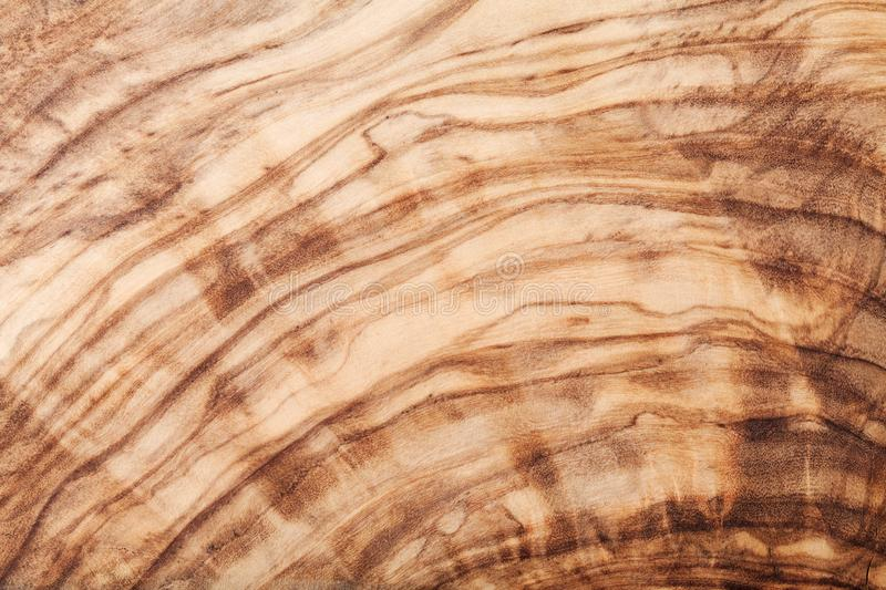 Texture or pattern of olive wood board. Natural background. stock images