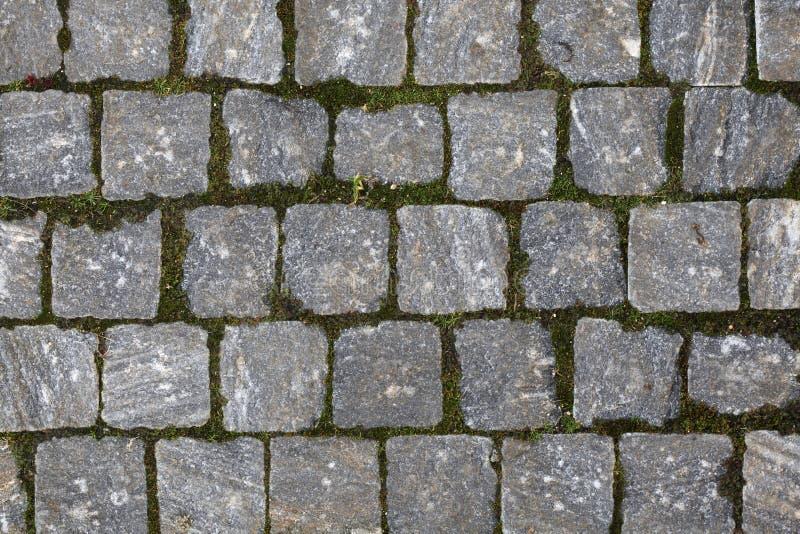 Texture pavée en cailloutis de trottoir image libre de droits