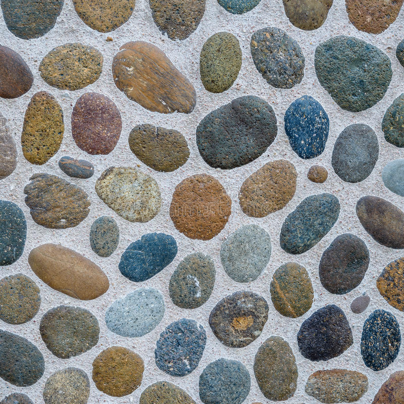 Texture of pebble stone wall royalty free stock images