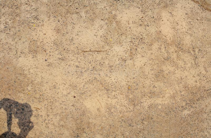 Texture of pebbles on ground in panorama view stock photo