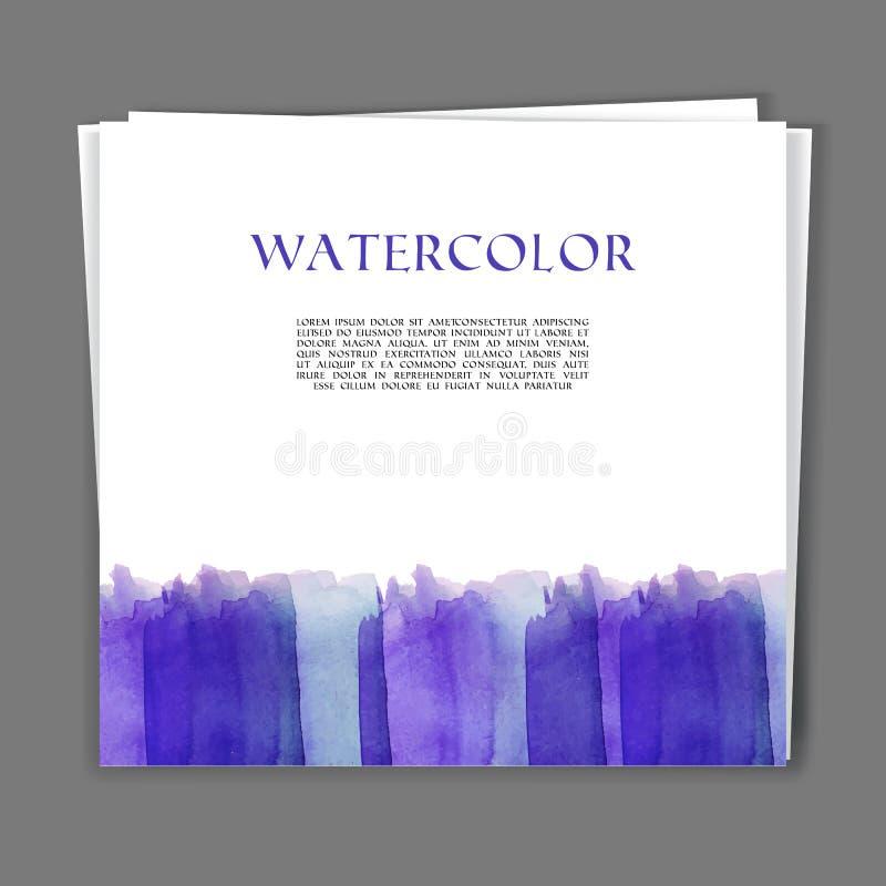 Texture peinte à la main d'aquarelle illustration libre de droits