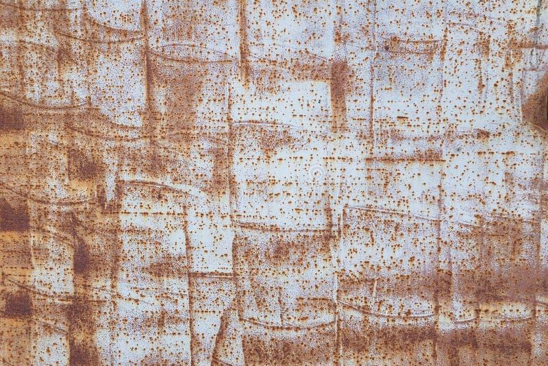 Texture peinte par métal grunge Surface métallique peinte avec la rouille et la vieille peinture Rectangles bleus 2 image libre de droits