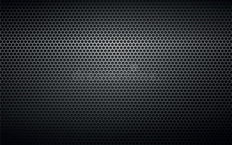 Texture perforée noire de fond en métal illustration de vecteur