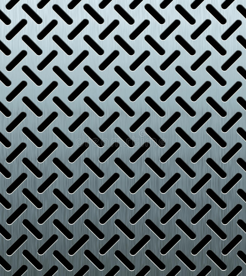 Texture of perforated metal sheet vector illustration