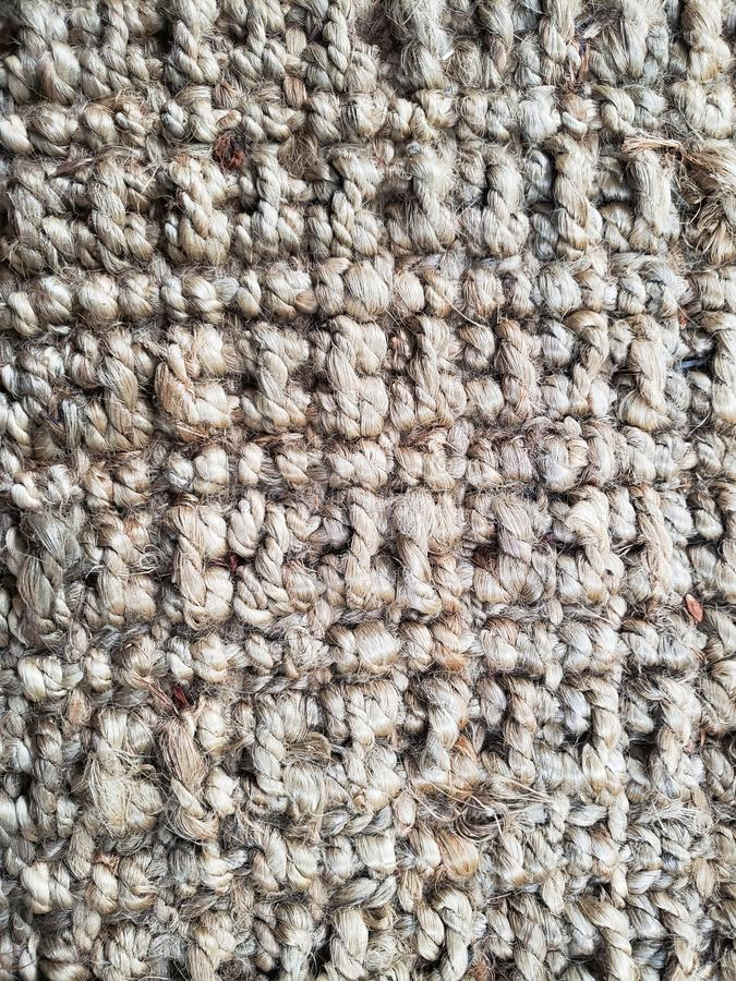 Texture photo of rope carpet and rug with details royalty free stock image