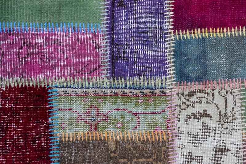 Texture of a piece of old carpet. To sew thick threads stock photography
