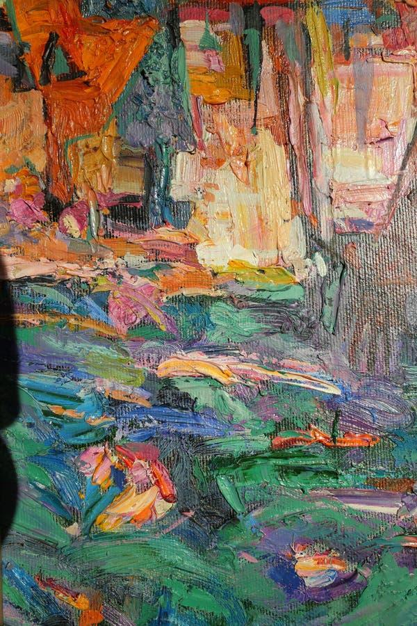 Texture a pintura a óleo, autor Roman Nogin de pintura, uma série de jazz do ` ` foto de stock royalty free