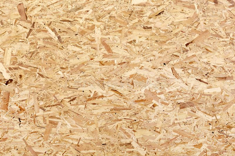 The texture of the plywood panel. Light brown texture of the plywood panel or pressed and glued wood chips royalty free stock image