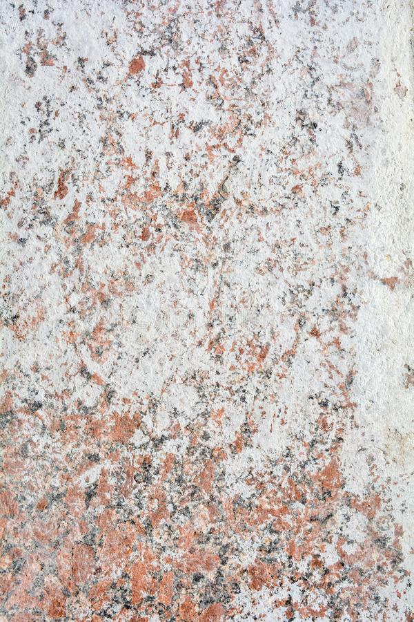 Texture of polished granite stone floor with white dense mud like chalk or lime. Texture of polished granite floor with white dense mud like chalk or lime. Rough royalty free stock images