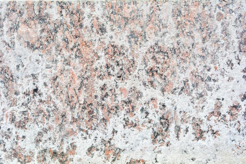 Texture of polished granite stone floor with white dense mud like chalk or lime stock photos