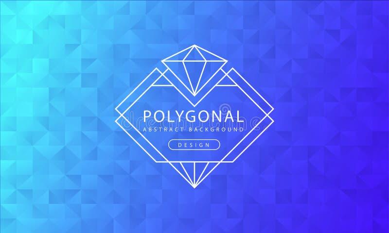 Texture polygonale de fond de ciel bleu de résumé, ciel bleu texturisé, milieux de polygone de bannière, illustration de vecteur illustration libre de droits