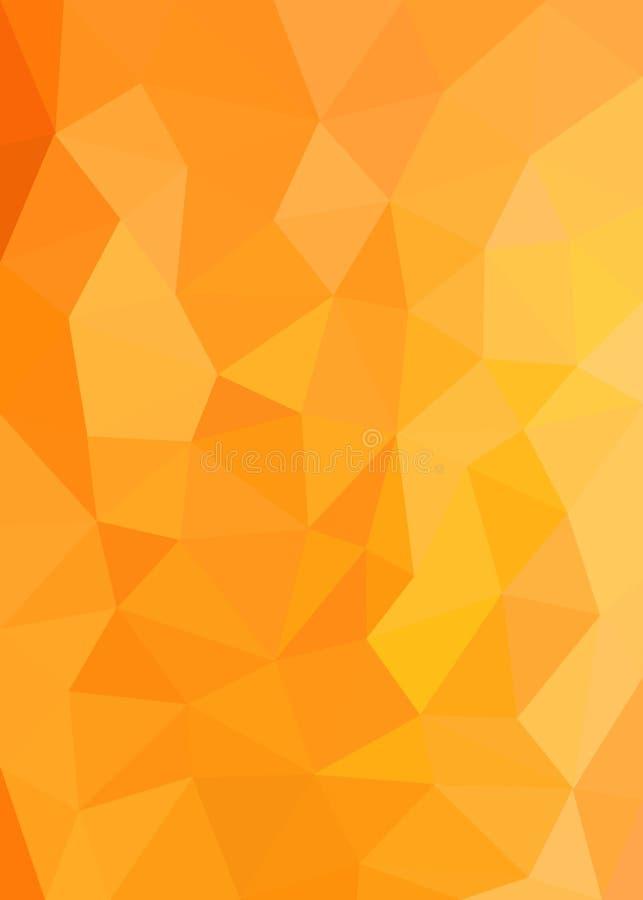 Texture polygonale orange et jaune pour le fond abstrait images libres de droits