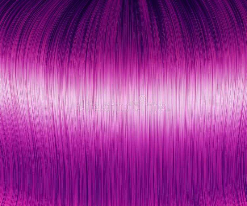 Texture pourpre de cheveux illustration stock
