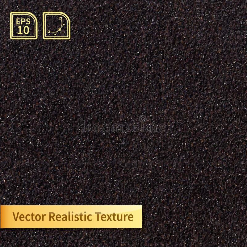 Texture principale de papier sablé de vecteur Texture de grain illustration libre de droits
