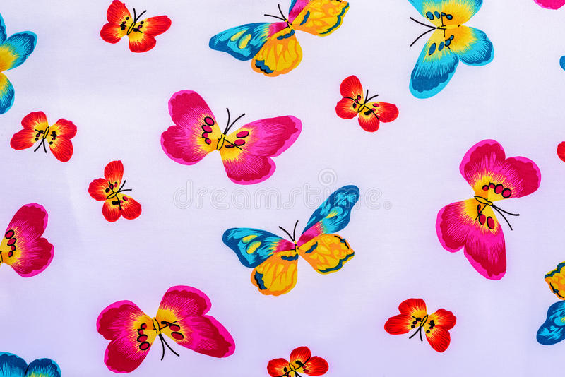 Texture of print fabric striped butterfly stock photos