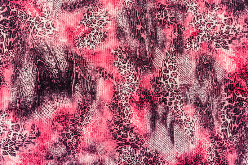 Texture of print fabric stripes leopard. For background royalty free stock images