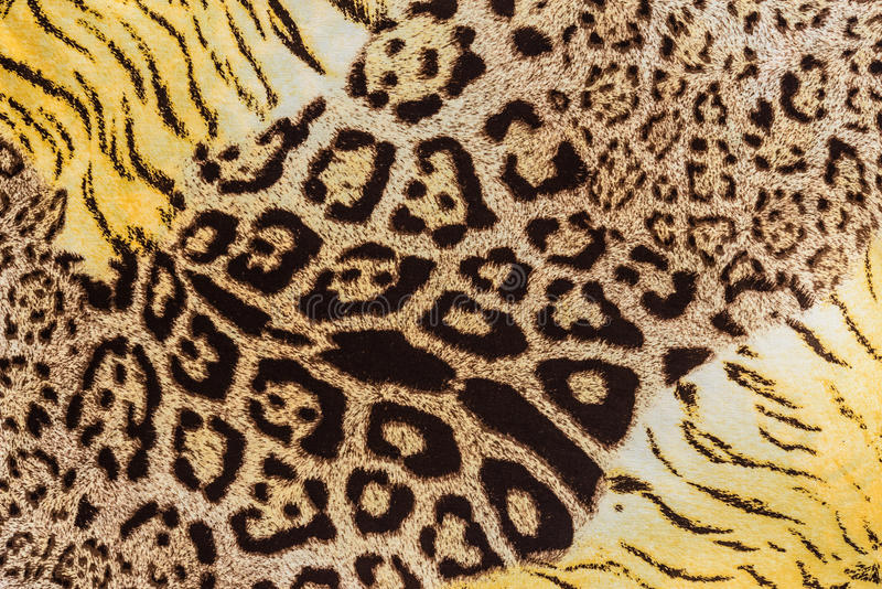 Texture of print fabric stripes leopard. For background royalty free stock image