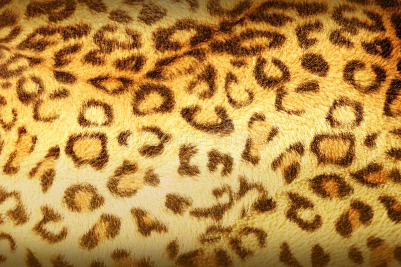 Texture of print fabric stripes leopard for background.  stock image