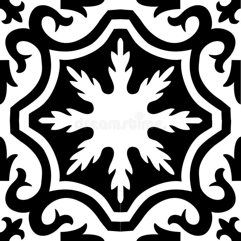 Mural black white ornament pattern royalty free illustration