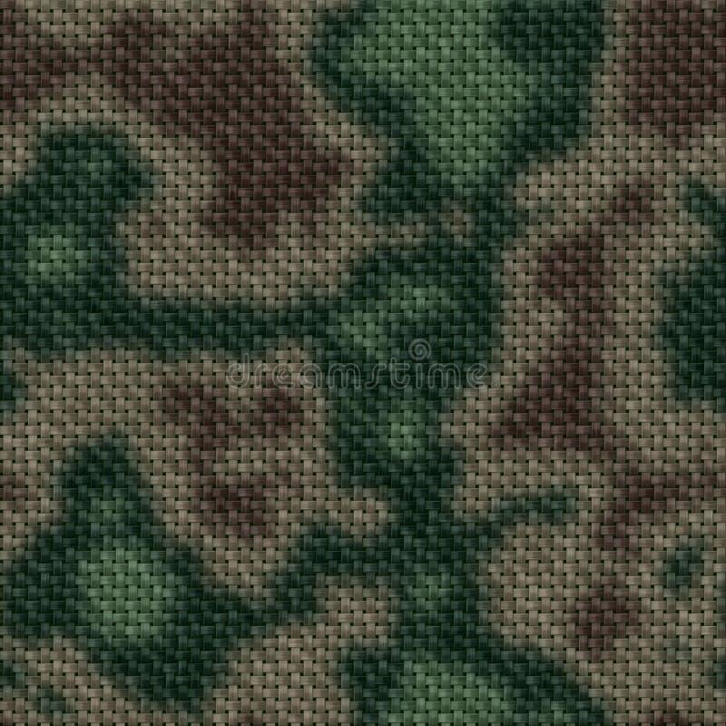 Texture produite sans couture colorée de knit de militaires illustration libre de droits