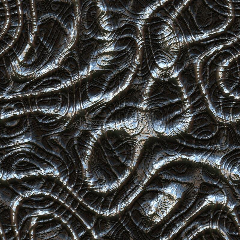 Texture produite sans couture de locations de bosses en métal illustration libre de droits