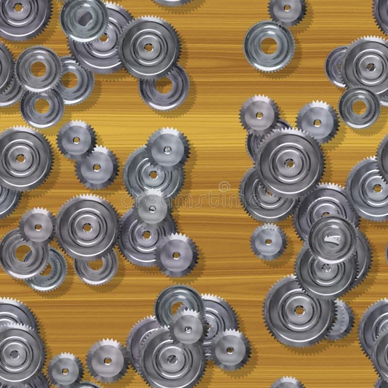Texture produite sans couture de locations de pignons illustration de vecteur