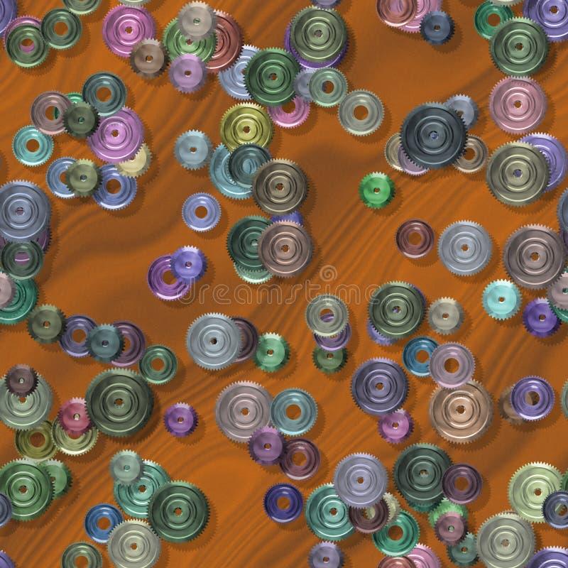 Texture produite sans couture de locations de pignons illustration stock