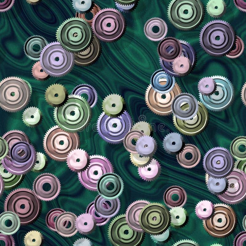 Texture produite sans couture de locations de pignons illustration libre de droits