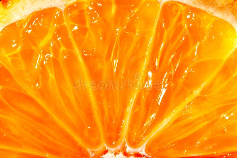 Texture of the pulp of orange stock photo