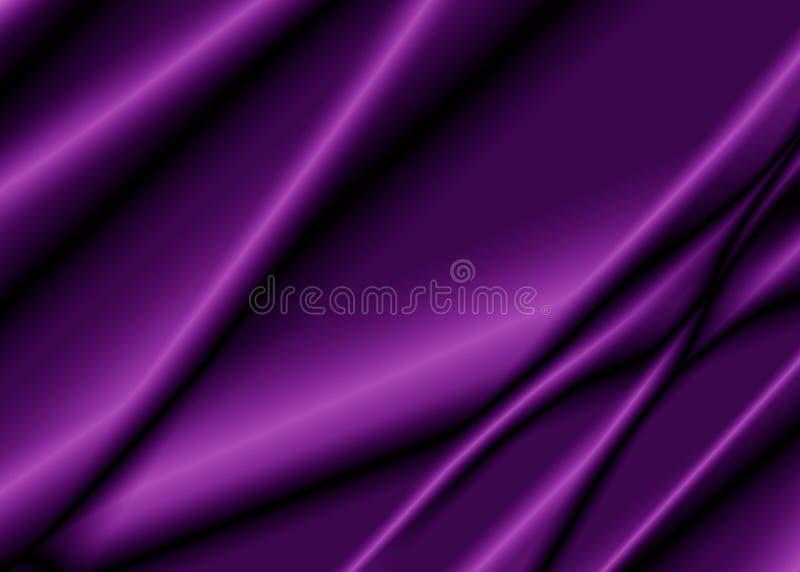 Texture of a purple silk fabric. stock illustration