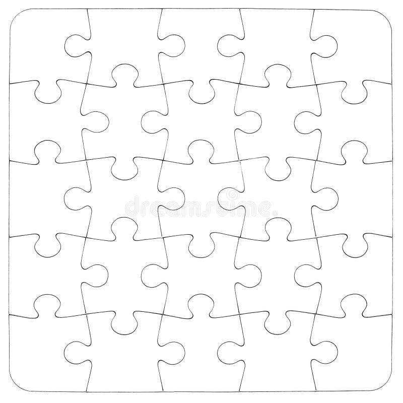 Texture Puzzle denteux blanc vide images libres de droits