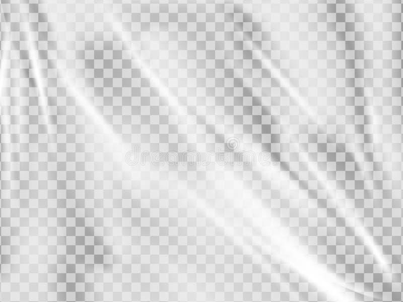Texture réaliste d'enveloppe en plastique Couverture étirée de polyéthylène image libre de droits