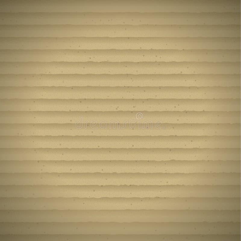 Texture réaliste de carton de Brown photos libres de droits