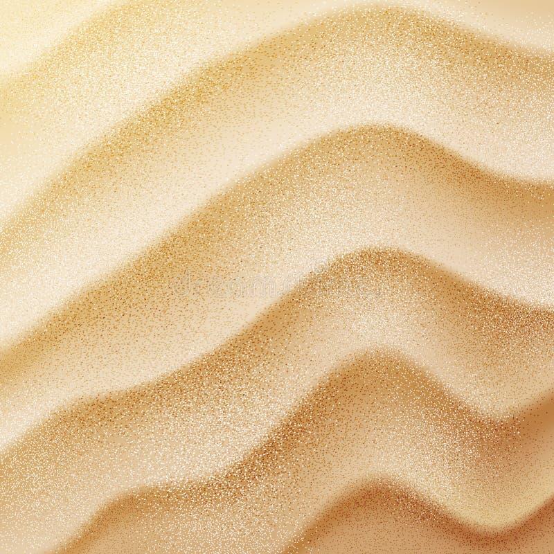 Texture réaliste de sable de vecteur illustration libre de droits
