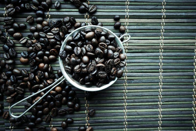 Texture rôtie de haricots de coffe images stock